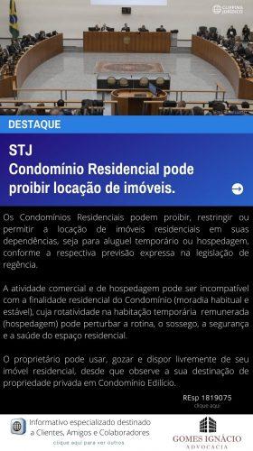 Clipping Jurídico - Condomínio Residencial pode proibir locação de imóveis