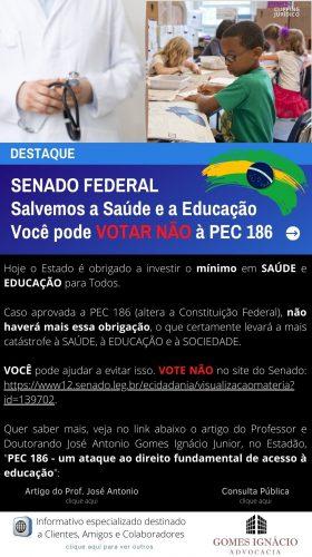 Parcicipe e ajude a salvar a Saúde, a Educação e o Brasil